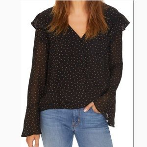 Sanctuary cori ruffle wrap top